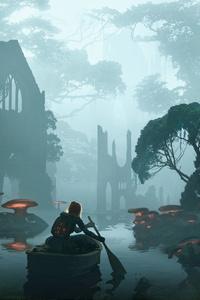 Mushroom Forest Fantasy Art