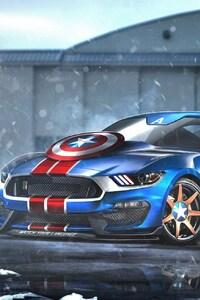 1125x2436 Mustang Captain America