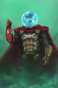 480x800 Mysterio Hand On Spiderman Mask