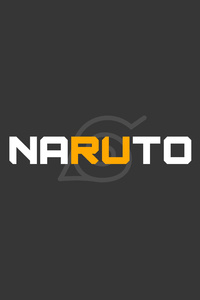 800x1280 Naruto Hidden Village Logo Minimal 5k