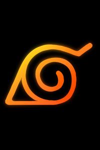 480x854 Naruto Logo Anime 8k