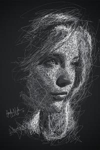 Natalie Dormer Scribble Artwork 4k