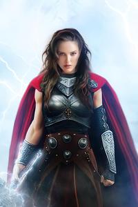 1080x2160 Natalie Portman As Lady Thor 4k