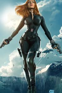 1125x2436 Natasha Romanoff Black Widow 4k Art