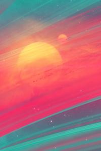 1080x2280 Nebula Artistic 4k