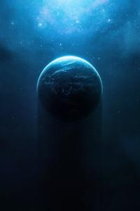 540x960 Nebula Halo Planet Digital Space Art