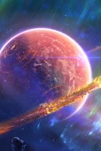 1280x2120 Nebula Planet Space