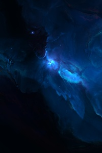 1280x2120 Nebula Stars Planet Galaxy 15k