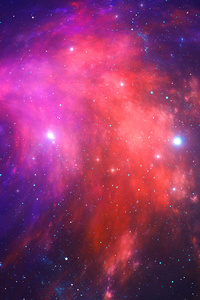 1080x2280 Nebula Stars Space Galaxy 4k