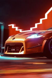 1125x2436 Need For Speed Heat Nissan 370z