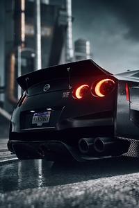 1125x2436 Need For Speed Heat Nissan Gtr 4k