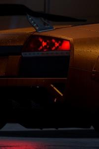 Need For Speed Orange Lamborghini Rear