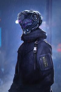 640x1136 Neo Cyber Police Robot 5k