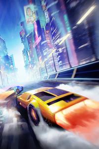 1440x2560 Neo Tokyo Cyber Cars 5k