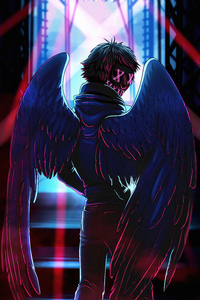 Neon Angel Boy 4k