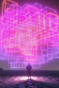 Neon Brain Imagination 4k