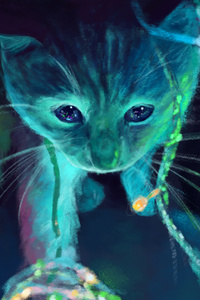 Neon Cat Artwork
