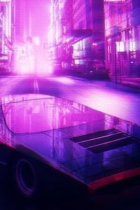 Neon City Car 4k