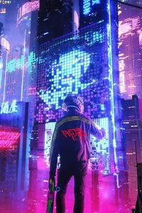 1080x1920 Neon City Pan 4k