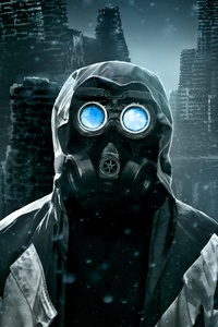 Neon Eye Mask Guy 4k