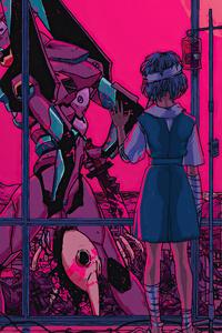 360x640 Neon Genesis Evangelion Bye My Friend 4k