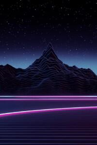 1080x1920 Neon Highway Digital Art