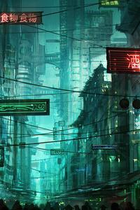 Neon Hong Kong Street 4k