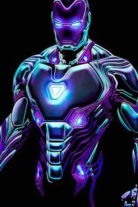 480x800 Neon Iron Man4k