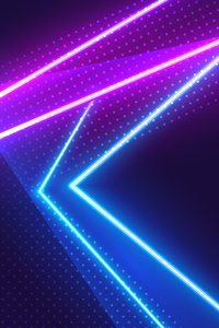 720x1280 Neon Light Grafitti 5k