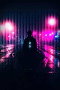1080x1920 Neon Light Guy 4k