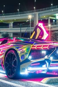 Neon Lights Lamborghini