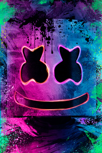 Neon Marshmello Helmet