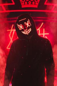 Neon Mask Guy 4k