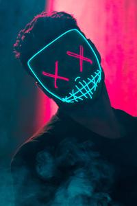 320x480 Neon Mask Guy