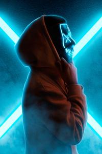 320x480 Neon Mask Guy Hoodie