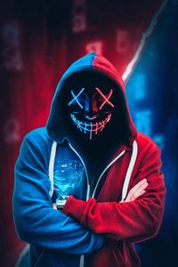 Neon Mask Hoodie 4k