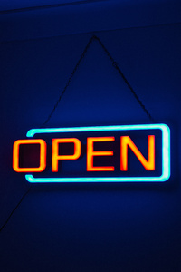 Neon Open Sign Board