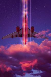 240x400 Neon Retro Airlines 4k