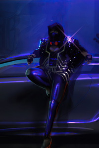 Neon Ride And Rider 4k