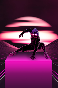 Neon Spider Man