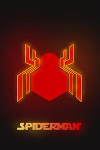 Neon Spiderman Logo