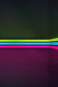 Neon Stripes Wall 4k