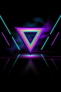 1440x2560 Neon Triangle Abstract 8k