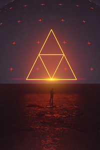 Neon Triangle Digital Art