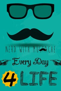 240x320 Nerd With Mustache
