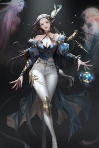 320x568 Nessi Fantastic Anime Girl 4k