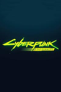 1080x2280 Netflix Cyberpunk Edgerunners Logo