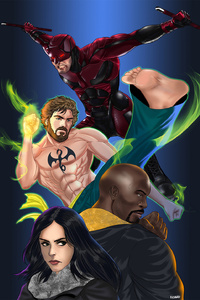 Netflix Marvels The Defenders Fan Art