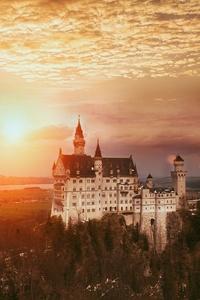 240x320 Neuschwanstein Castle 4k
