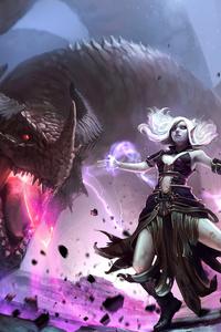 720x1280 Neverwinter Magic Dragon 4k